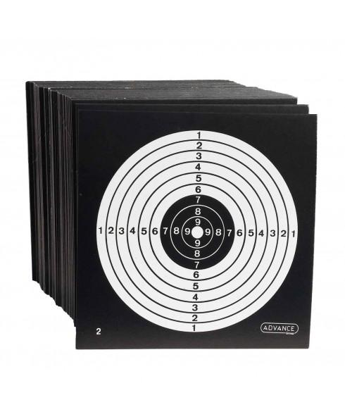 100 Bersagli in Cartoncino Target 14x14 cm