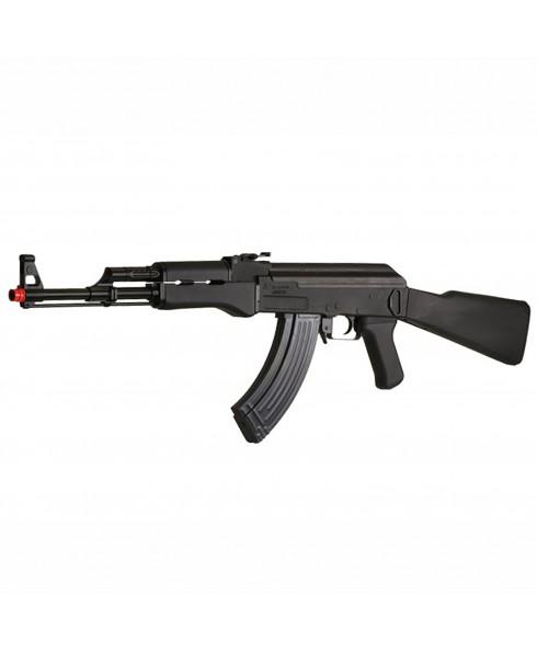 Fucile Elettrico per Softair CYMA AK 47 Nero Soft Air con Hop-up Batteria Caricabatteria