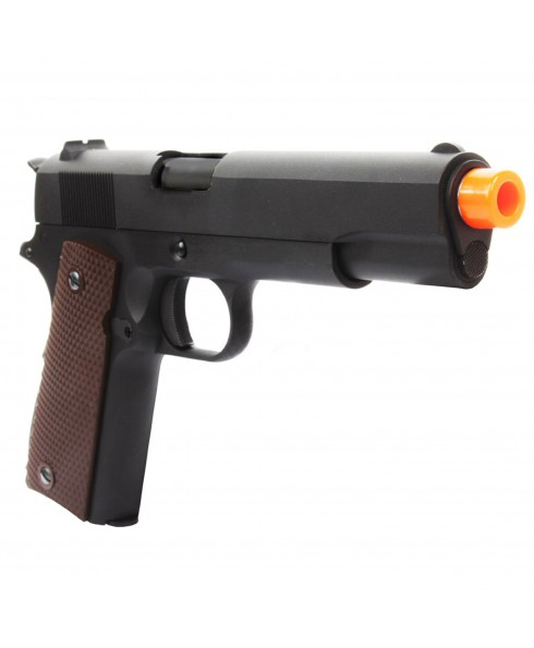 PISTOLA CO2 FULL METAL PROFESSIONALE GRIP SCARRELLANTE IN METALLO M1911A1 PER SOFTAIR SOFT AIR