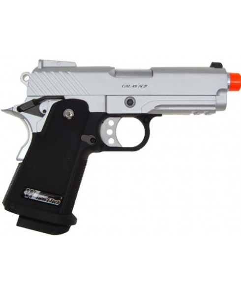 Pistola Softair a gas in Metallo Full Metal Scarrellante Colt Baby Hi-Chapa Soft Air