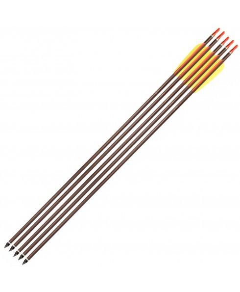 5 Frecce in Alluminio per Arco 30 Pollici Freccia Tiro Bersaglio 8mm Shop SoftAir