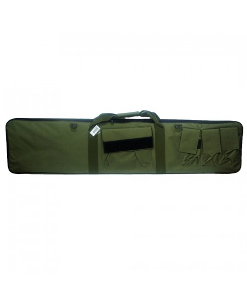 Custodia Porta Fucile Borsa Verde 130cm Sport Softair Caccia con Tasche Cinghia