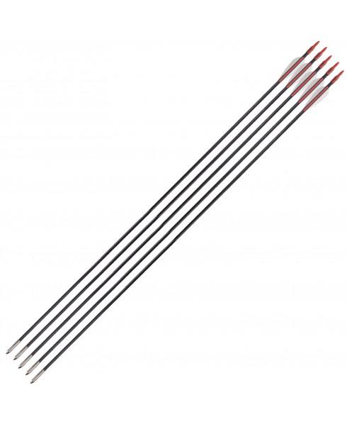 5 Frecce Freccia per Arco Tiro Bersaglio in Fibra 81 cm 6 mm 32 Pollici