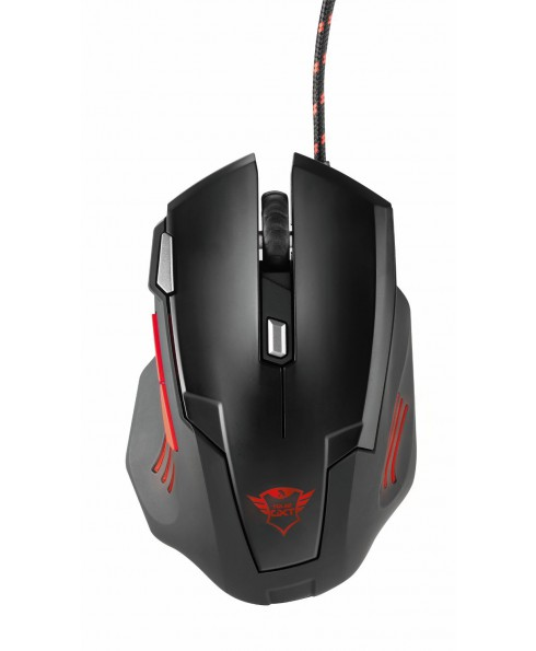 Mouse da Gioco Gaming Trust 7 Tasti 2500 DPI Illuminato GXT 111 Nero Ergonomico