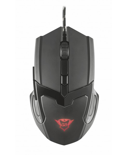 Mouse da Gioco Trust Gaming Logo Illuminato Nero Ergonomico 6 Pulsanti GXT 101