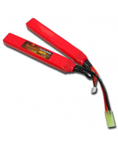 Batteria Li po Softair 7,4V 2000 Mah 20C Calci Crane Asta Paramano Tamia Piccolo