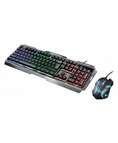 Tastiera Luci Led per Computer Mouse Luminoso Trust Gaming GXT845 Combo Gioco