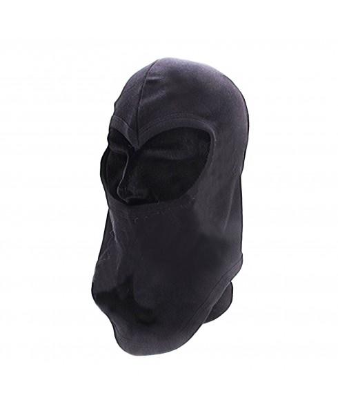 PASSAMONTAGNA BALACLAVA IN COTONE NERO 1 FORO PER SOFTAIR CACCIA PESCA SOFT AIR