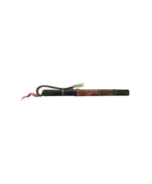 Batteria Lipo 7.4 V  1300 Mah 25 C per Softair Gioco Sport 18,7x1,4x1,2 cm