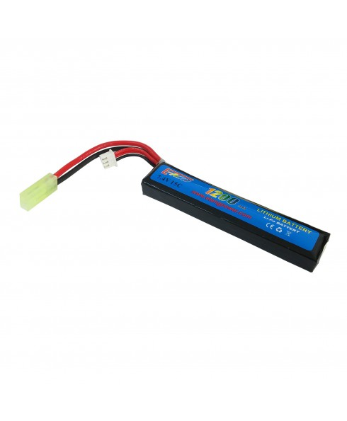 Batteria Lipo soft Air Softair 1200 mAH 7.4V 15C Ricaricabile Airsoft LI-PO