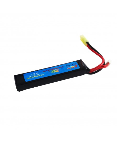 Batteria Lipo soft Air Softair 750 mAH 11.1V 15C Ricaricabile Airsoft LI-PO