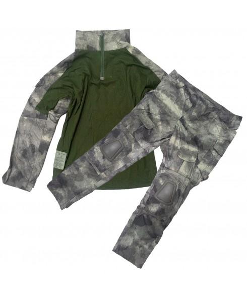 Mimetica Militare Felpa Tattica + Pantalone Taglia S per Caccia Advance Atacs