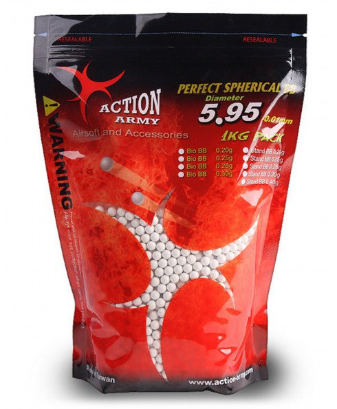 Pallini Softair 6mm Biodegradabili Action Army - Busta 1 kg