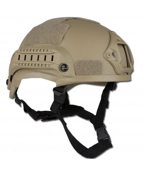 Casco Elmetto SOFTAIR Tattico Protettivo Militare Tan Imbottito Mich Velcro