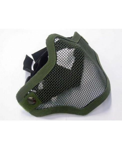 Maschera Mascherina Protettiva Verde Militare a Rete Naso Bocca Softair Sport