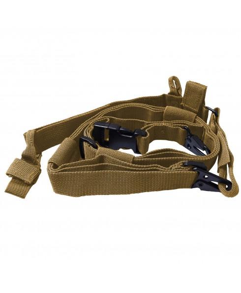Cinghia da Tracolla tattica Imbracatura 3 Punti TAN per Fucile Carabina Softair