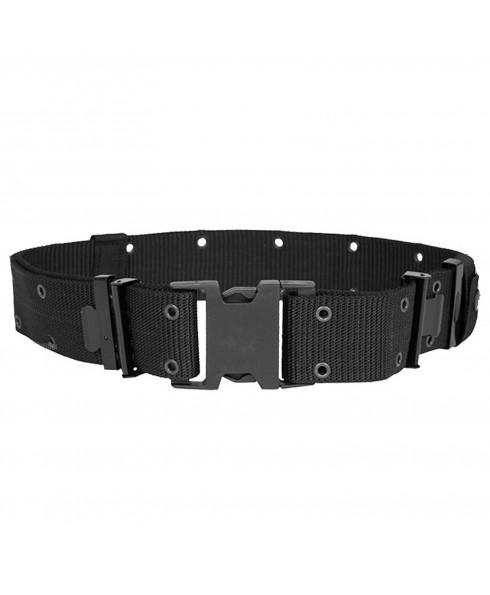 Cinturone Nero Militare Tattico per Softair Esercito in cordura Sgancio Rapido