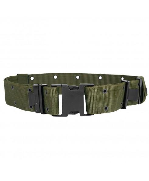 Cinturone Verde Militare Tattico per Softair Esercito in cordura Sgancio Rapido