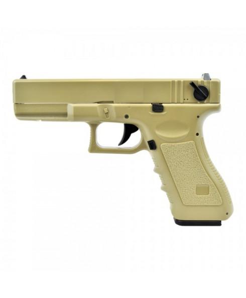 Pistola Elettrica Glock 18C Cyma Colore Tan Raffica 27 Colpi CM030T