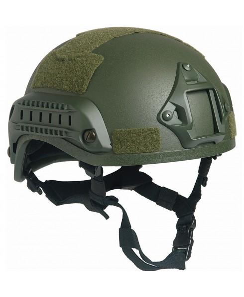 Casco Elmetto SOFTAIR Tattico Protettivo Militare Verde Imbottito Mich Velcro