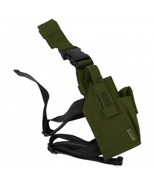 Fondina in Cordura Cosciale Verde Militare per Pistola Universale Desert Eagle