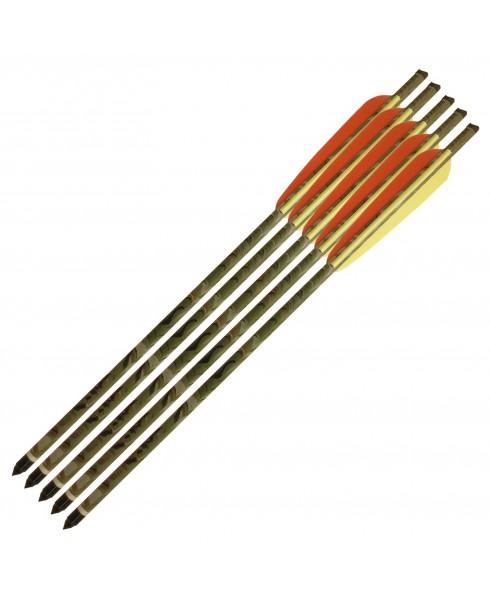5 Frecce 16 Pollici per Balestra Dardo in Alluminio 9mm Freccia Mimetica