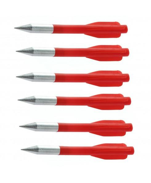Frecce per Balestra 9 cm Rosse - Set da 6