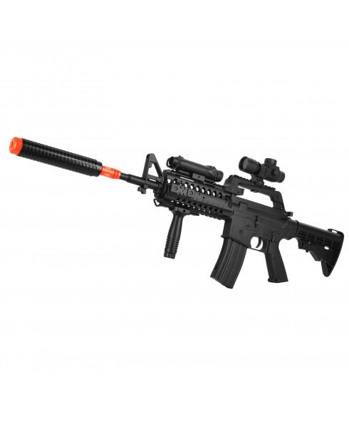 Fucile a Molla in Abs MR799 M4 con Red Dot per Softair Calcio Retrattile