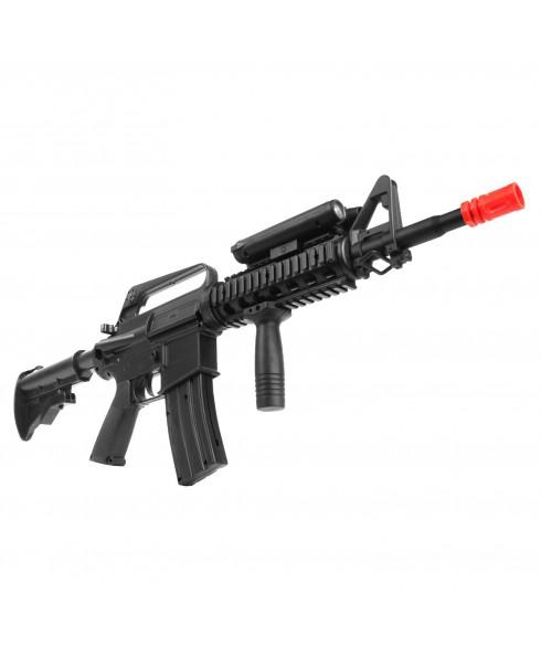 Fucile a Molla M16 A4 Ris ABS Softair Soft Air con Torcia Calcio Regolabile