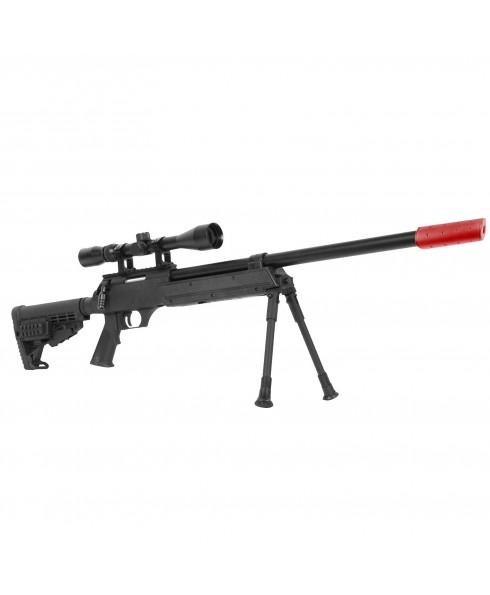 Fucile a Molla MB13D Sniper in Abs con Bipiede Silenziatore Ottica per Softair