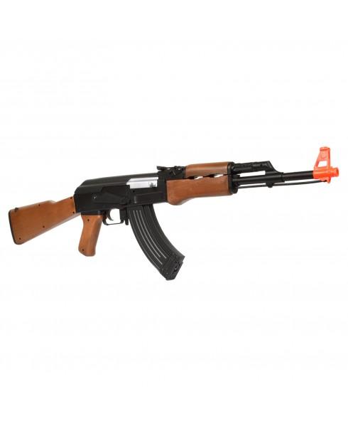 Fucile Elettrico AK47 Gear Box in Metallo ABS Pacco Batteria per Softair