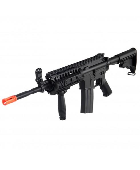 Fucile Elettrico Softair M4 S-System A&K Gear BOX in Metallo ABS Pacco Batteria