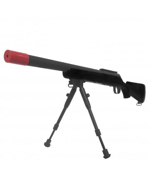 Fucile Sniper a Molla VSR10 Nero con Bipiede per Softair da Cecchino