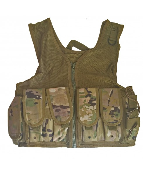 Gilet Tattico Softair Molle Multicam Tactical Vest Airsoft Militare in Cordura