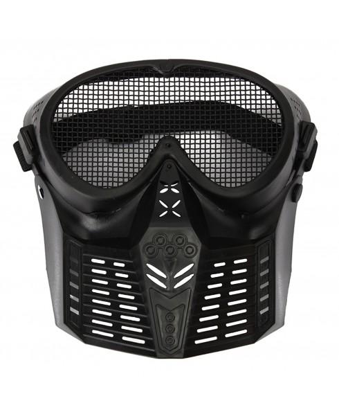 Maschera di Protezione Protettiva Facciale per Softair Copri Viso ABS Nera