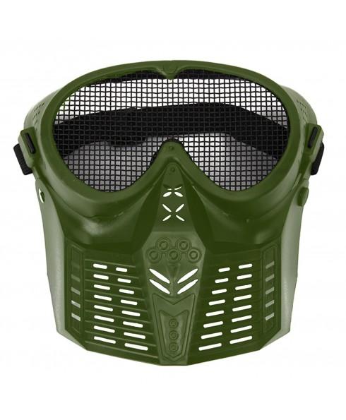 Maschera di Protezione Protettiva Verde per Softair Copri Viso Facciale