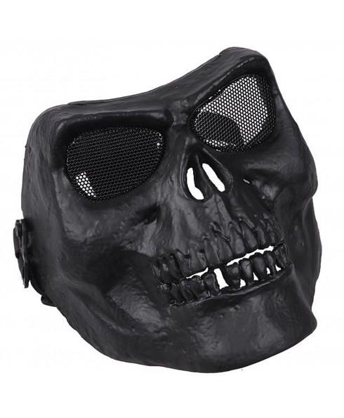 Maschera di Protezione Facciale Copri Viso Skull Mask Teschio per SoftAir Nera