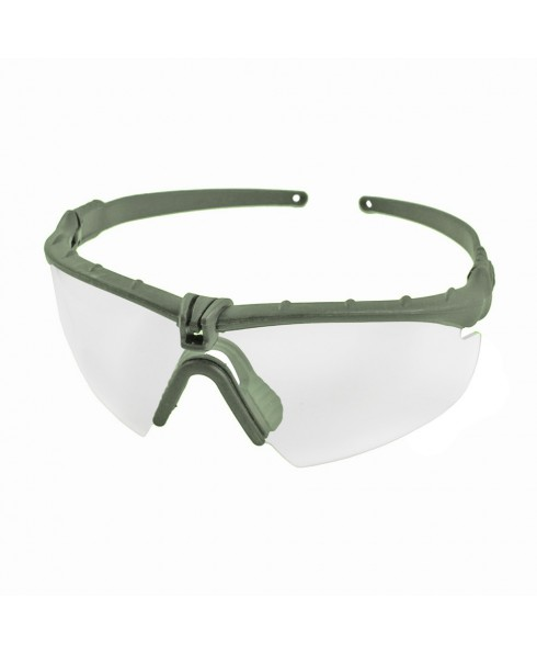 Occhiali Protettivi per Softair Militari Balistici Verdi Lenti Trasparenti