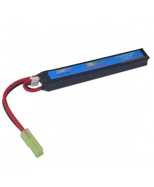 Batteria Lipo 7.4V 1500 mAh Ricaricabile 25C Softair