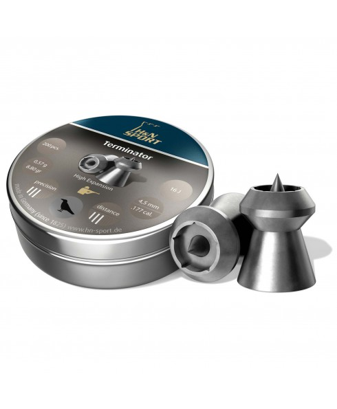 Pallini Piombini H&N Sport Terminator Calibro 4,5mm 0,47 g Libera Vendita