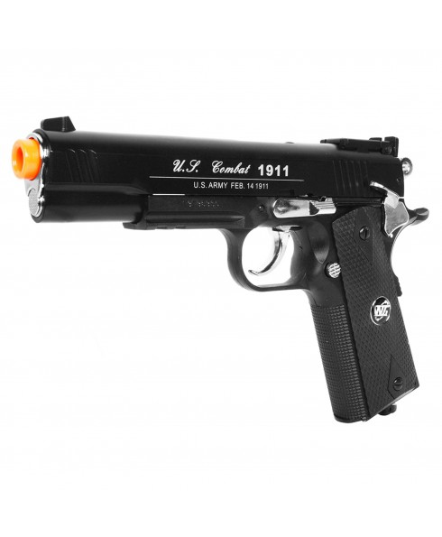 Pistola Special Combat 1911 Nera Gas CO2 WIN GUN FULL METAL Scarrellante Softair
