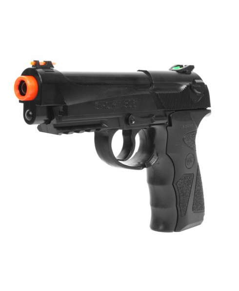 Pistola B92 Sport in ABS a GAS CO2 WIN GUN per Softair Soft Air Nera