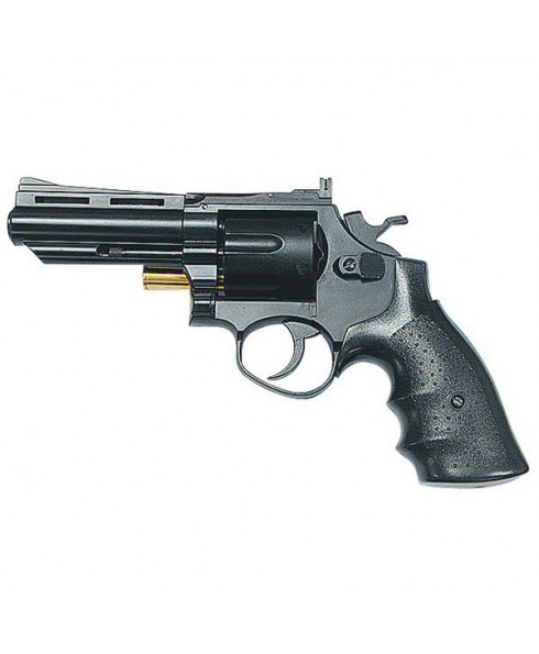 Pistola Revolver Gas CO2 Sport Nero HG132B 650 Gr Abs Metallo 6 Bossoli Canna 4