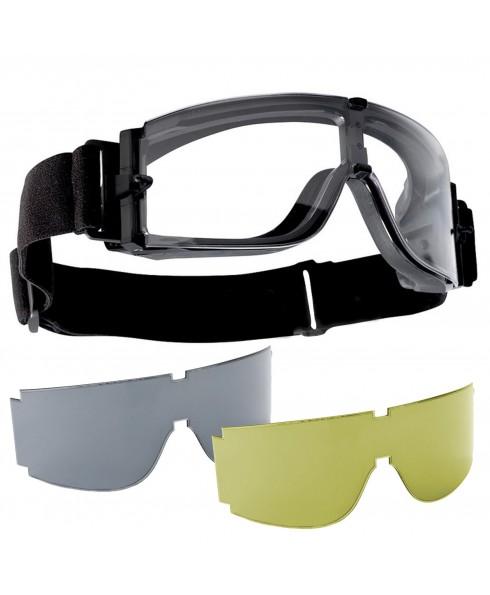 Occhiali da Tiro per Softair Protezione ROYAL 3 Lenti Nero Giallo Soft Air