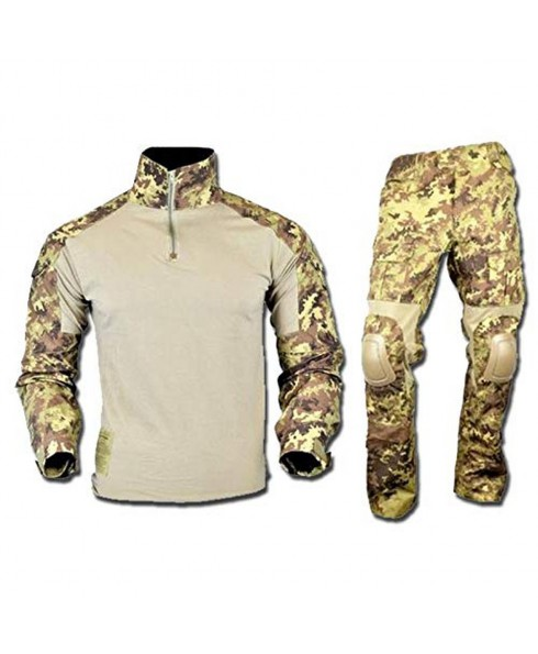 Uniforme Divisa Mimetica Softair Caccia Vegetato Italiano S Slim Felpa Pantaloni