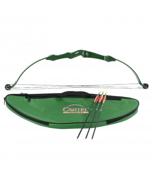 Kit Arco Mini Compound per Bambini 50 Cm Verde Cartel + 3 frecce Tiro Bersaglio
