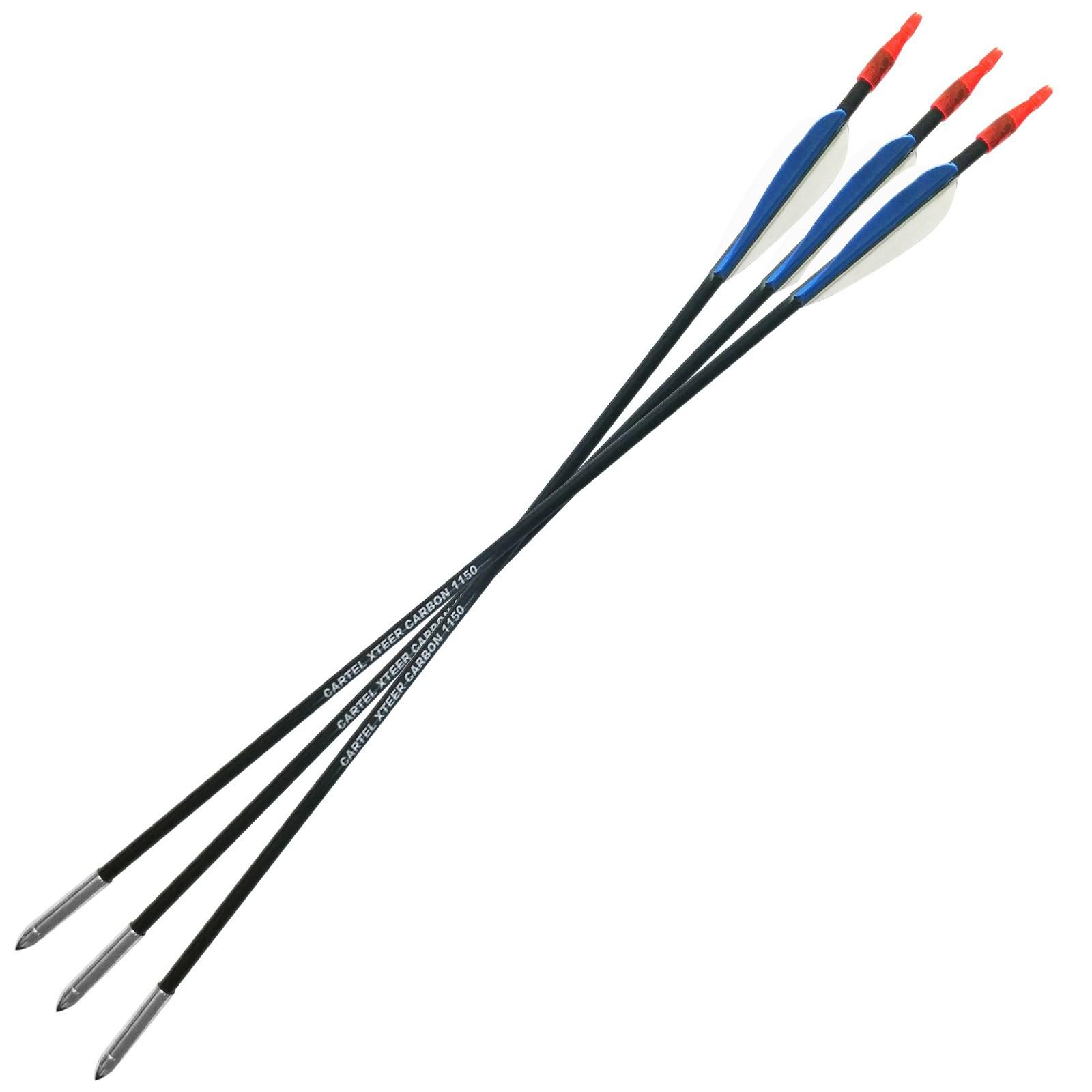 3 Frecce Freccia per Arco Mini Compound Tiro Bersaglio 14 Pollici