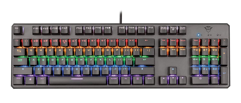 Tastiera Meccanica per Computer Colorata Luci Arcobaleno Trust Gaming GXT 865