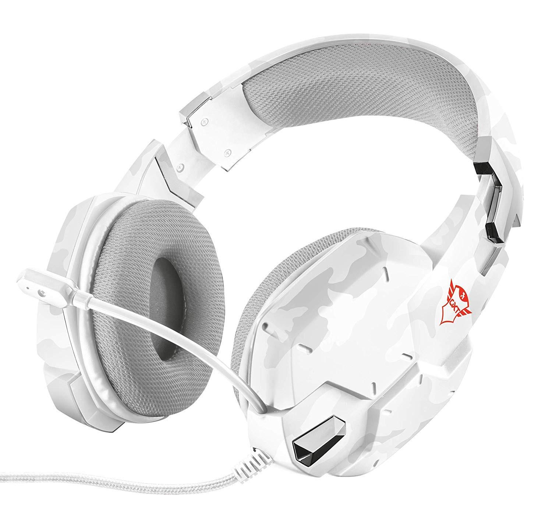 Cuffie da Gioco Trust Gaming GXT 322C Bianco Camuffamento con Microfono Potenti