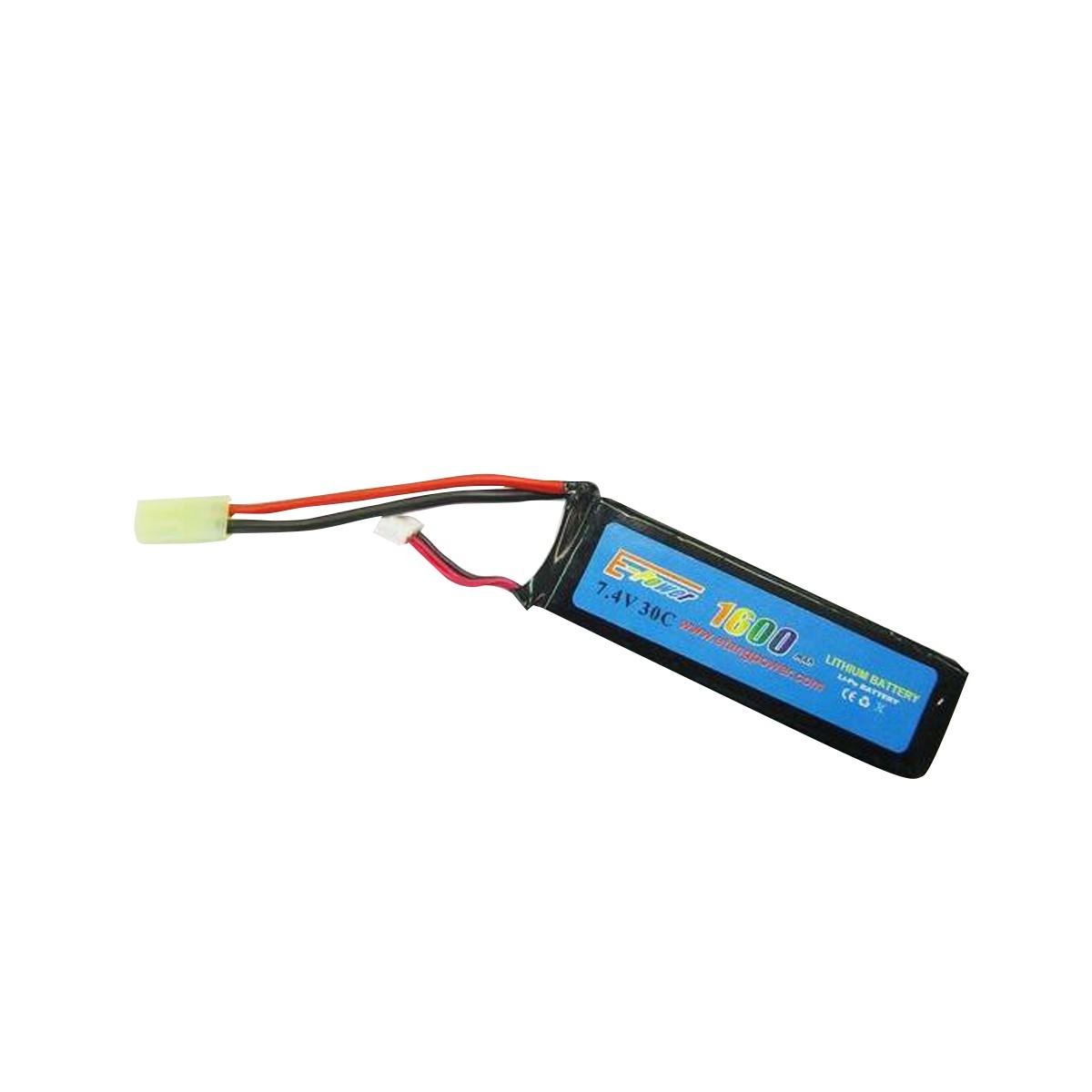 Batteria E-Tang Power Lipo 7.4V 1600 Mah 30C Sofatir per M4 G36 Alte Prestazioni